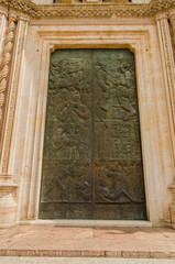 Door of cathedral, Orvieto, Italy