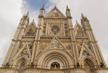 Front of cathedral, Orvieto, Italy
