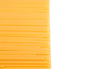 Dried spaghetti texture for background