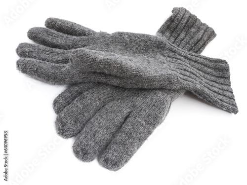 Leinwanddruck Bild Wollhandschuhe