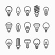 Light bulb icons - 64097187
