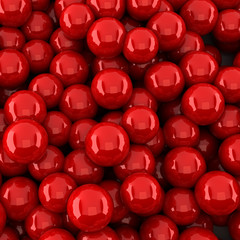 Red balls background (3d render)