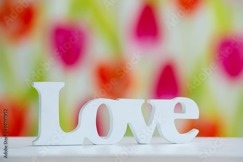 Interior decoration wooden handmade love word