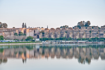 Agdal pond at Meknes, Morocco