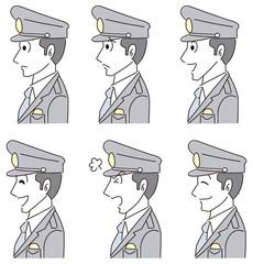 警察官の横顔アイコン