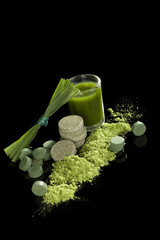 Green food supplement.