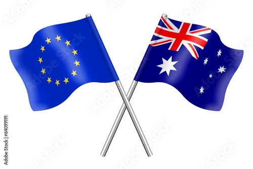 Flags : Australia and Europe