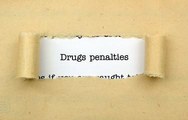 Drugs penalties