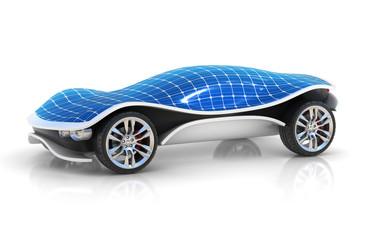 solar car 3d concept