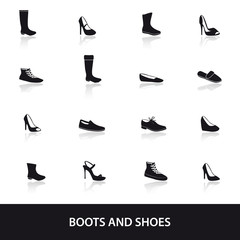 boots and shoes eps10