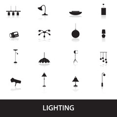 lighting icons eps10