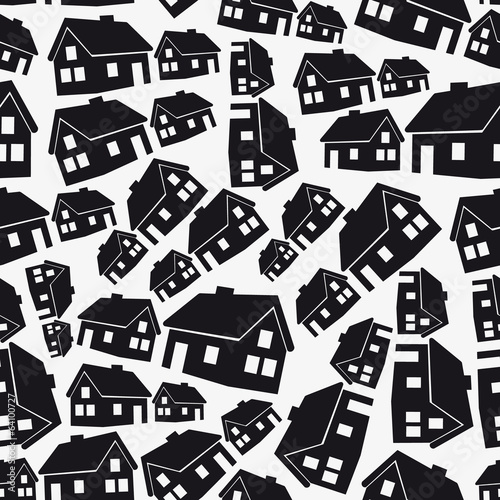 real estate simple house seamless pattern eps10