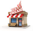 ice cream store 3d illustration