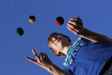 Konzentrationsübung, Jonglieren