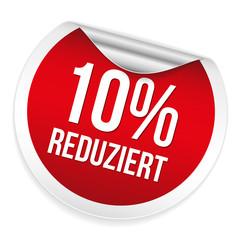 Roter 10 Prozent reduziert Sticker