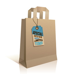 Big carry paper shopping bag