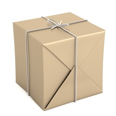 realistic 3d render of package