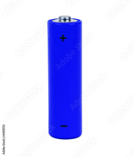 dark blue small battery with positive and negative signs