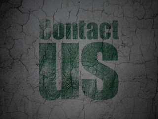 Advertising concept: Contact Us on grunge wall background