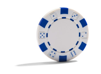 Blank poker or casino chip