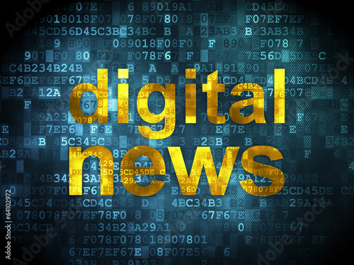 News concept: Digital News on digital background