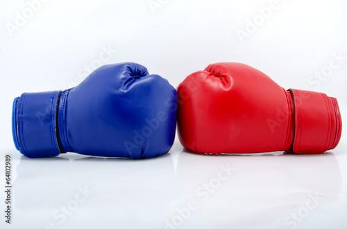 Staande foto Stierenvechten Boxing gloves close up