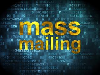 Marketing concept: Mass Mailing on digital background