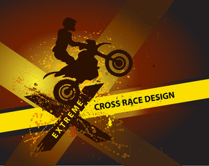 motocross background design with grunge element and place for te