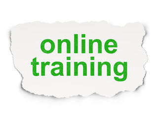 Education concept: Online Training on Paper background