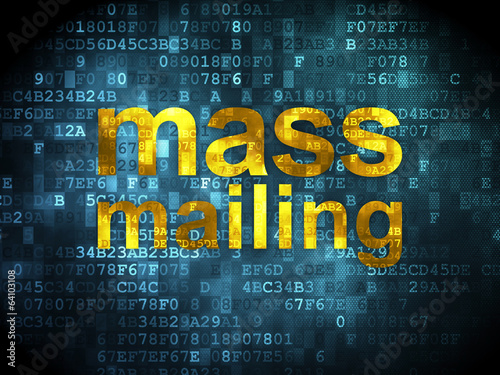 Marketing concept: Mass Mailing on digital background