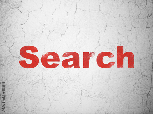 Web design concept: Search on wall background