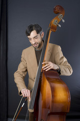Musician On Double Bass