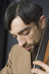 Portrait - Musician On Double Bass