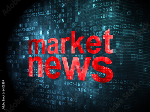 News concept: Market News on digital background