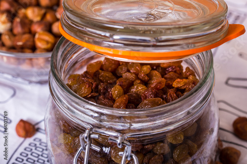 raisins in the jar