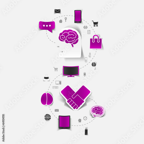 Set of sticker design. Technology business concept