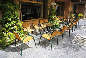 Street cafe, terrace restaurant