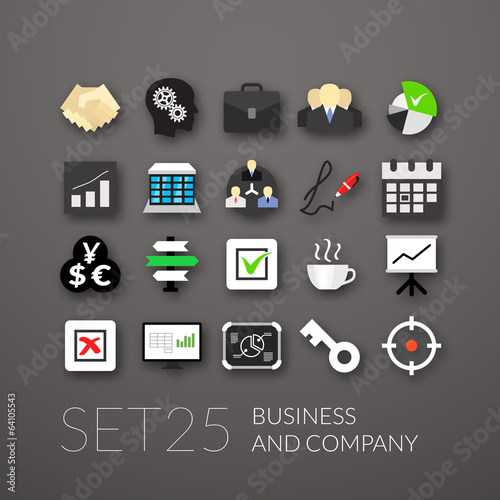 Flat icons set 25