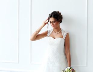 Wedding. Bride with bouquet
