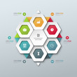 Vector template for infographic or web design