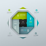 Vector background for presentation or infographic