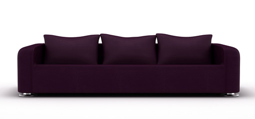 Purple Leather Sofa