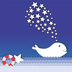 ballena mar estrellas fantasía