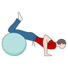 Fitness Ball Pushups