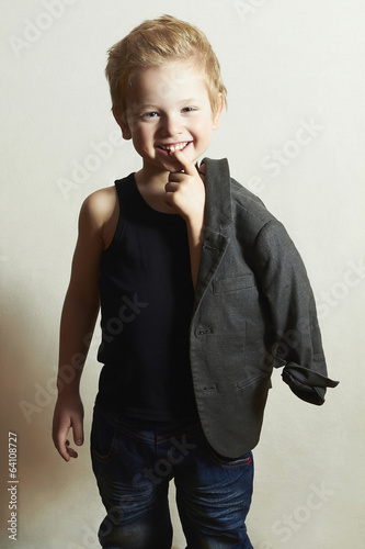 Child.funny little boy.fashion children.handsome smiling kid