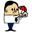 Businessman protecting a little house