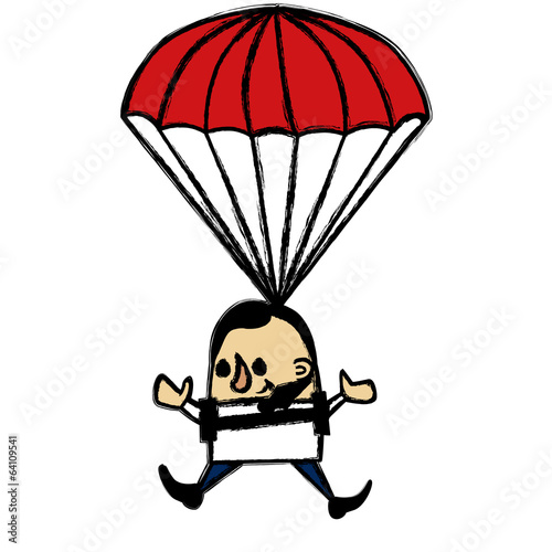 Businessman Skydiver