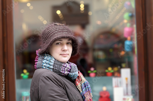 Woman posing in Prague