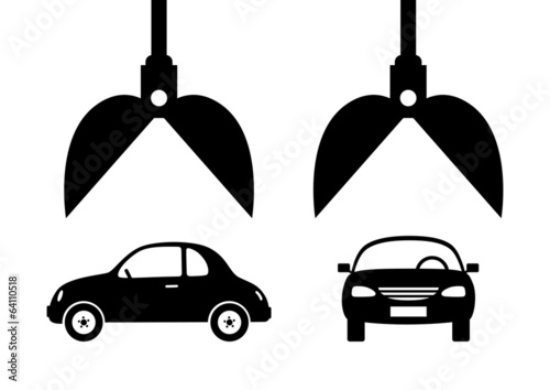 Car icon on white background