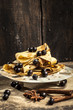 berry fruit with crepes